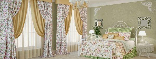 Самые популярные оттенки штор для спальни