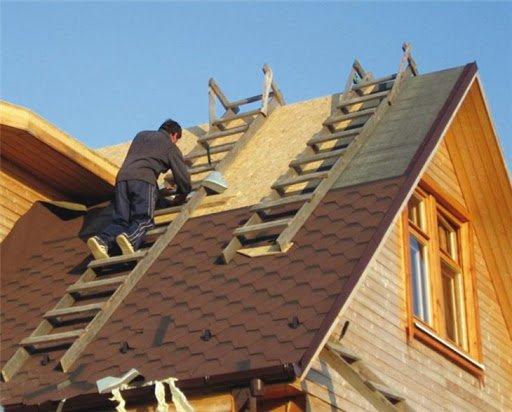 Как установить двускатную крышу